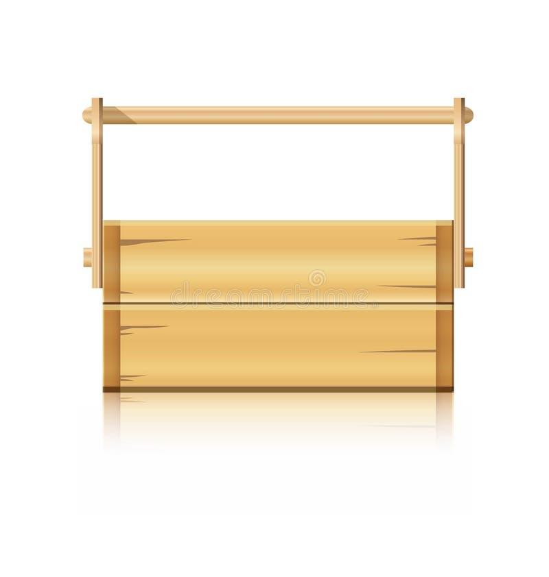 Houten doos voor diverse hulpmiddelen royalty-vrije illustratie