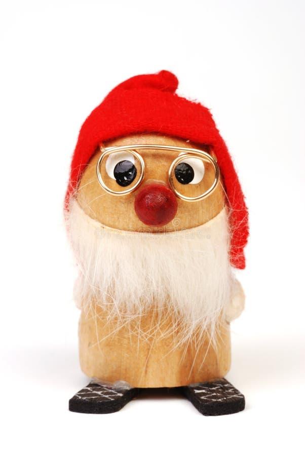Houten Elf 1 van Kerstmis royalty-vrije stock foto