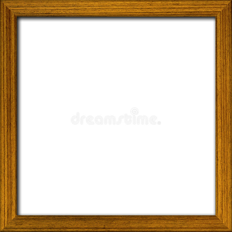 Houten fotokader stock foto