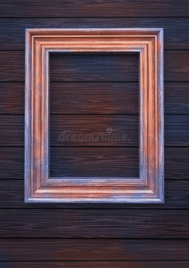 Houten frame bij het met panelen bekleden royalty-vrije illustratie