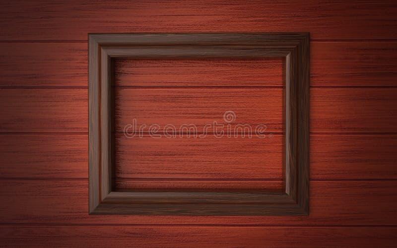 Houten frame bij het met panelen bekleden vector illustratie