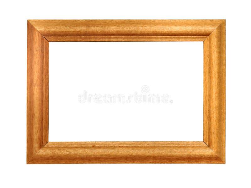 Houten frame dat op wit wordt geïsoleerdl royalty-vrije stock afbeelding