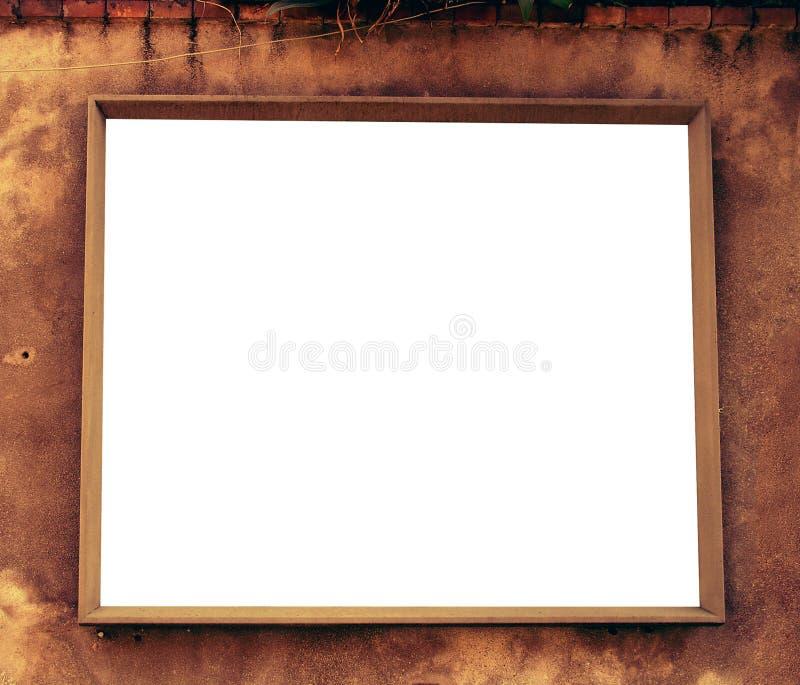 Houten Frame met witte ruimte royalty-vrije stock foto