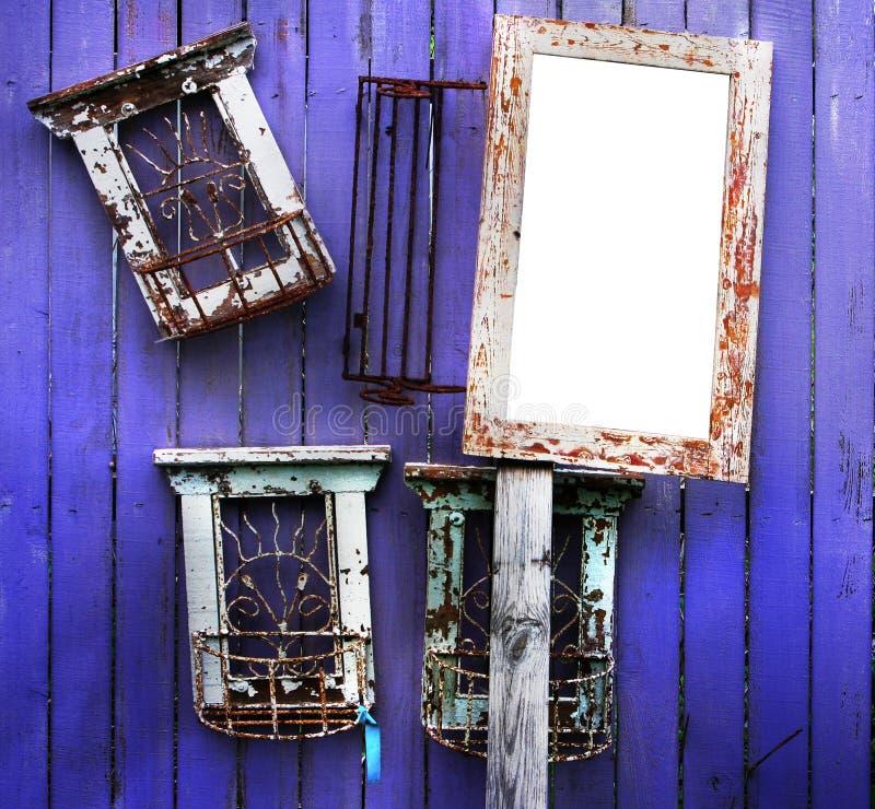 Houten frames royalty-vrije stock fotografie