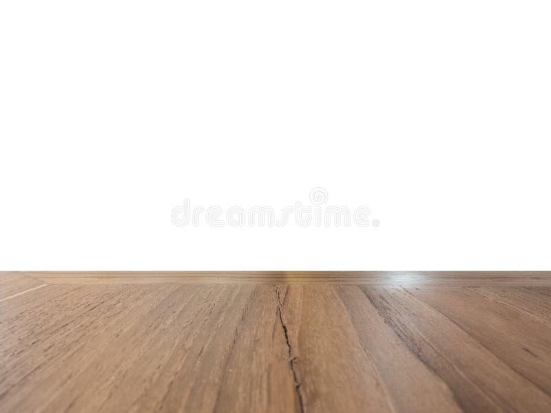 Houten geïsoleerde vloer royalty-vrije stock afbeelding