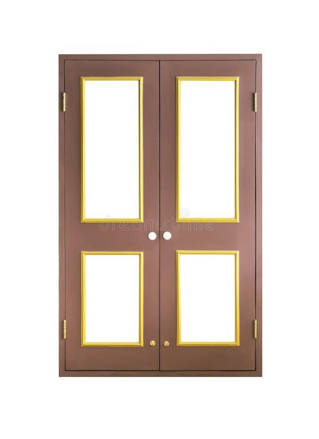 Houten geïsoleerdeg deur royalty-vrije stock afbeeldingen