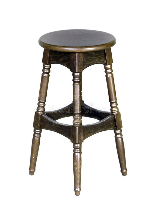 Houten geïsoleerder staafstoel royalty-vrije stock afbeelding