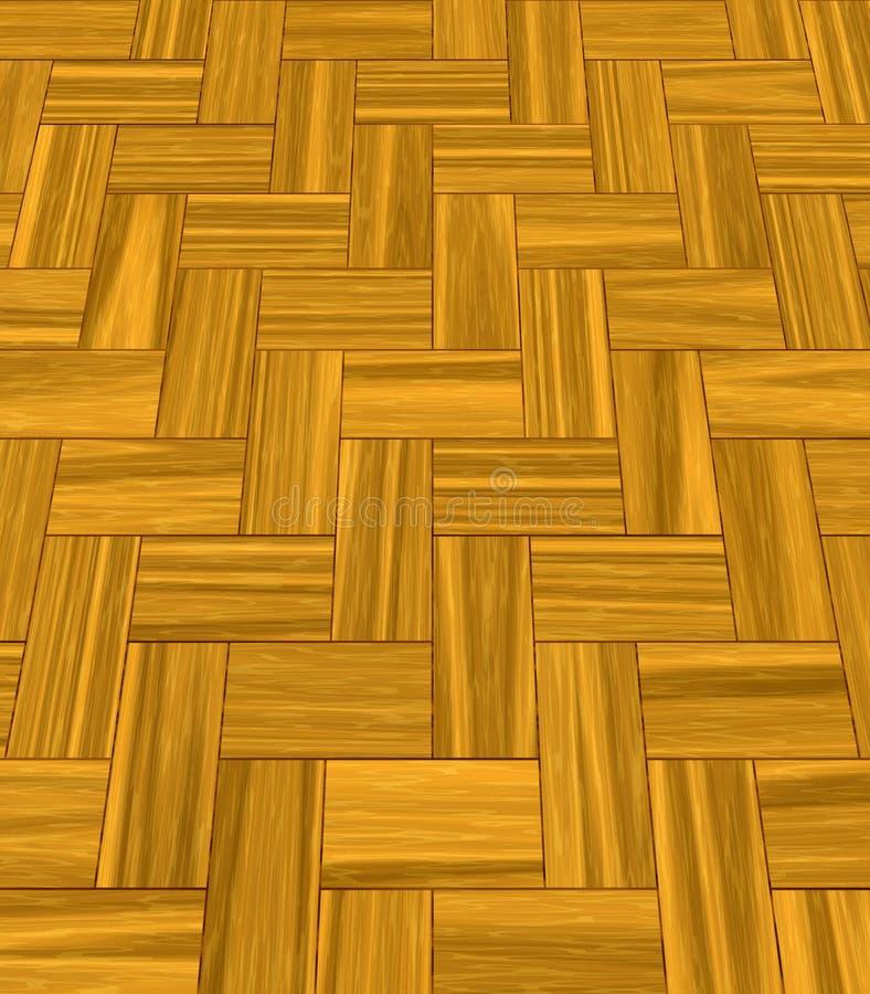 Houten gelamineerde vloer stock illustratie