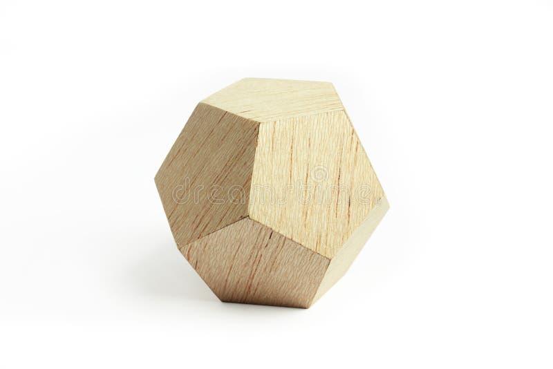 Houten geometrisch blok royalty-vrije stock afbeeldingen