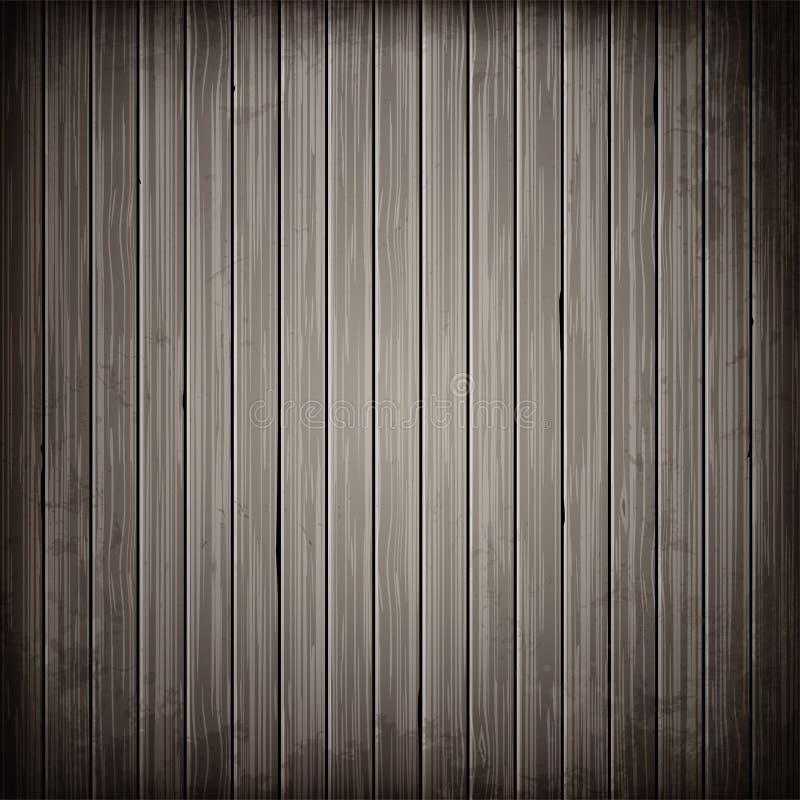 Houten grijze plankachtergrond stock illustratie