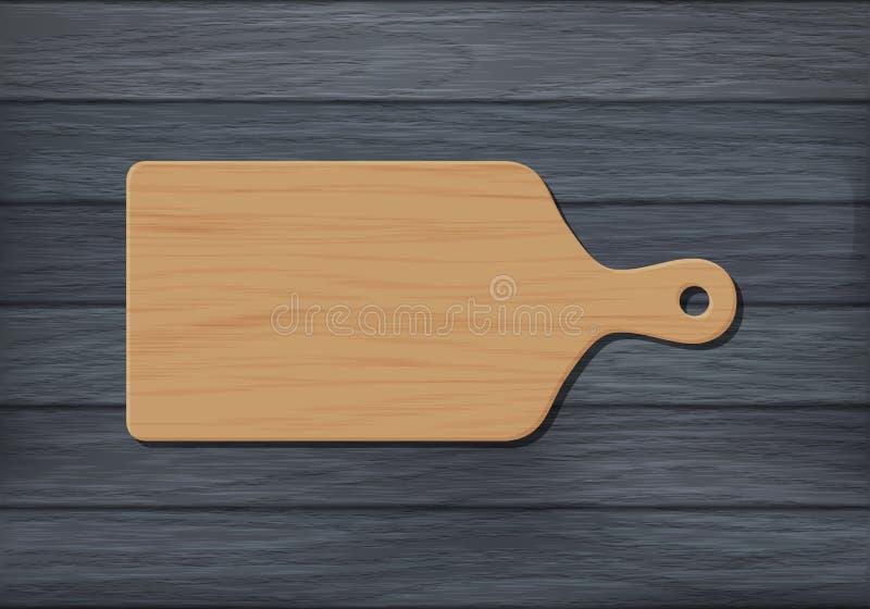 Houten hakbord stock illustratie