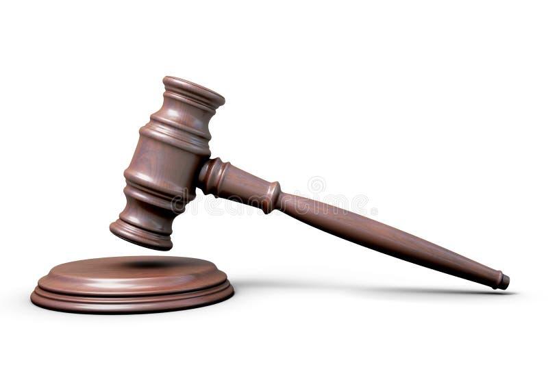 Houten hamer van de rechter royalty-vrije illustratie