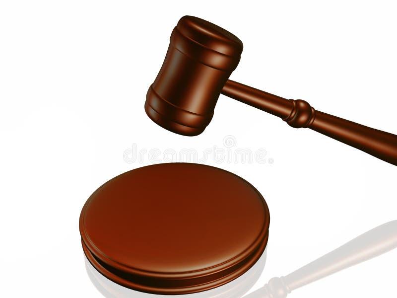 Houten hamer van het hof royalty-vrije illustratie