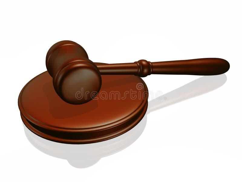 Houten hamer van het hof stock illustratie