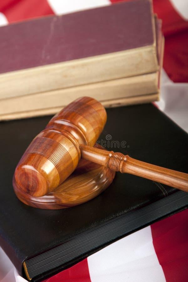 Houten hamer van rechtvaardigheid stock afbeelding