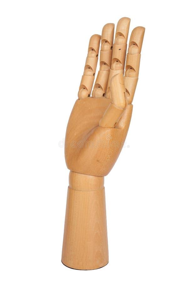 Houten hand royalty-vrije stock afbeelding