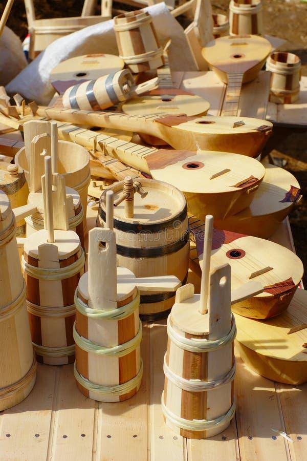 Houten handcraft royalty-vrije stock afbeelding