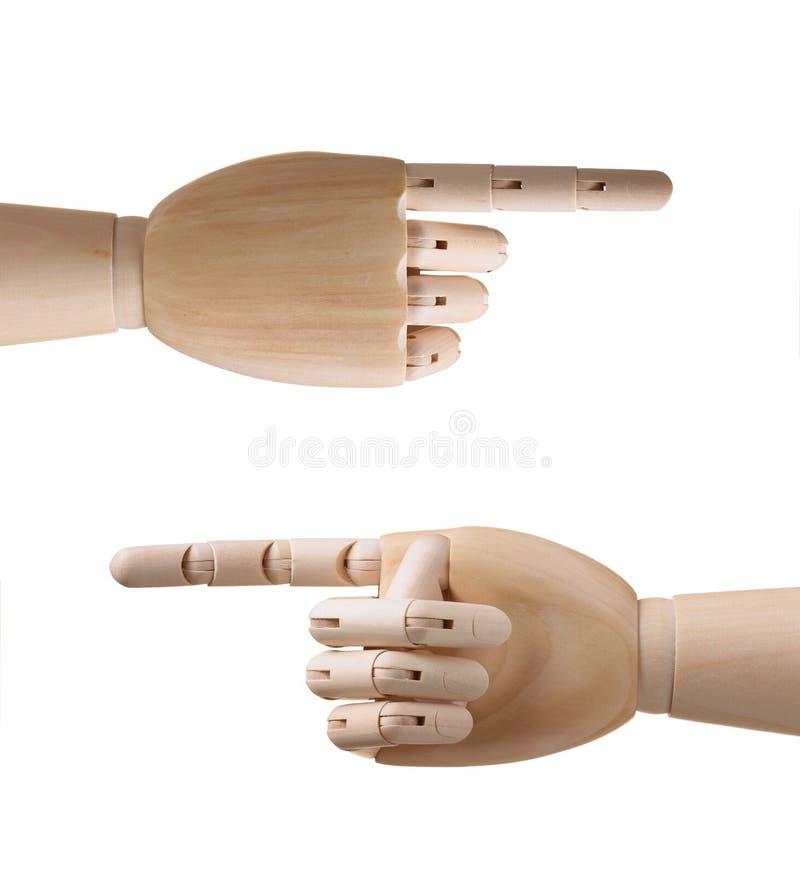 Houten handen royalty-vrije stock afbeelding