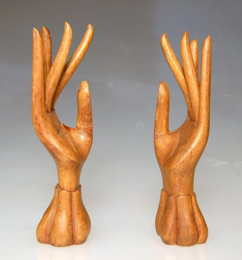 Houten handen 3 stock afbeelding