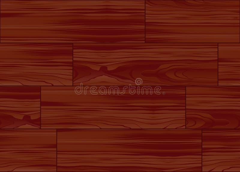 Houten het patroontegel van de parketvloer vector illustratie