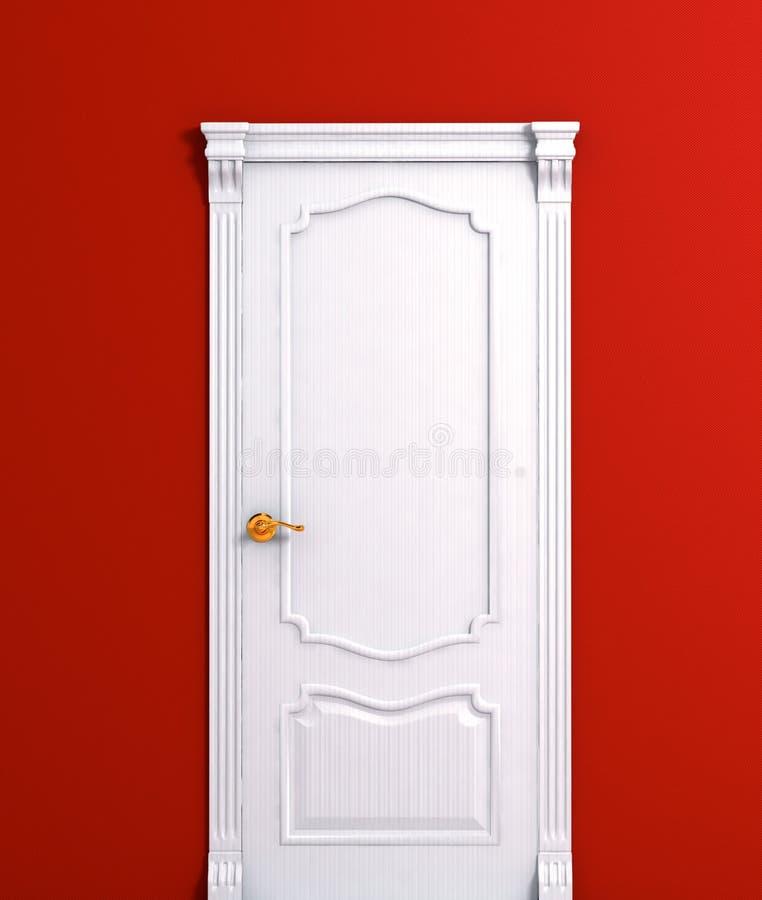 Houten het witte huis binnenlands detail van de deur royalty-vrije stock foto's