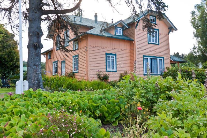 Houten Huis in Frutillar Chili stock foto's