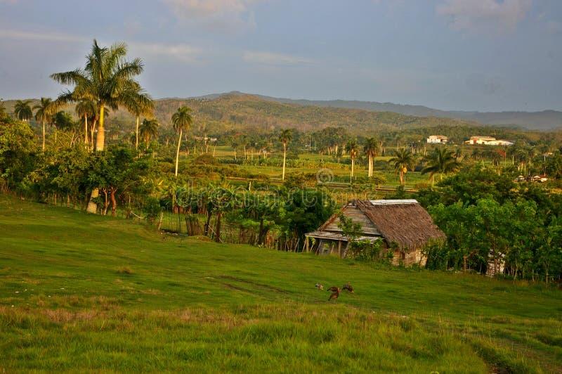 Houten huis in het platteland van Cuba royalty-vrije stock afbeeldingen