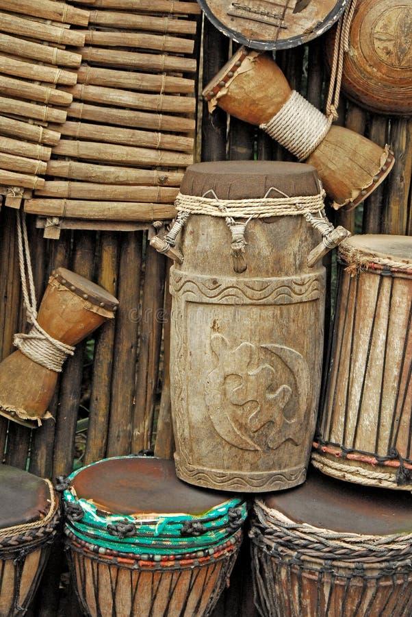 Houten instrumenten royalty-vrije stock afbeelding