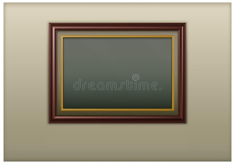 Houten kader royalty-vrije illustratie
