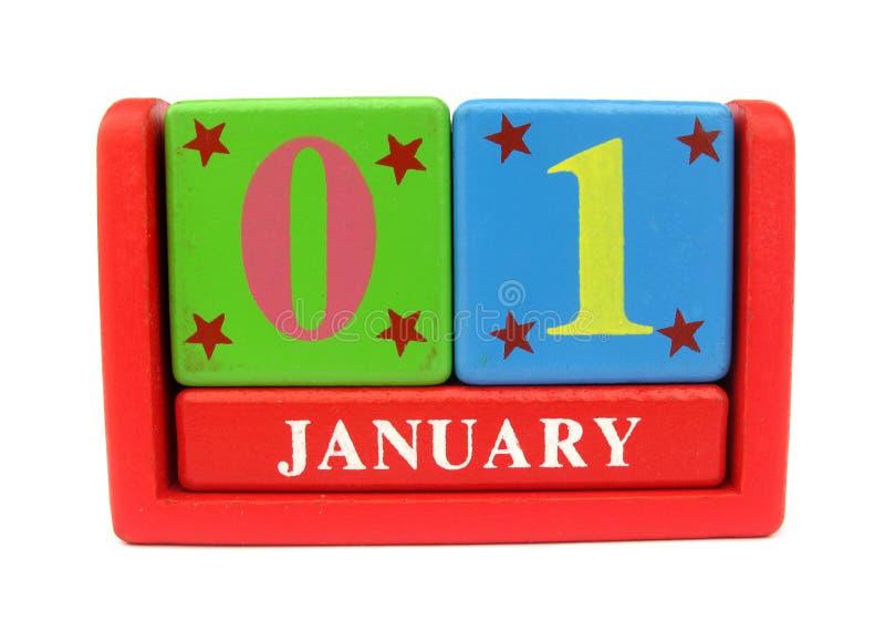 Houten kalender royalty-vrije stock foto's
