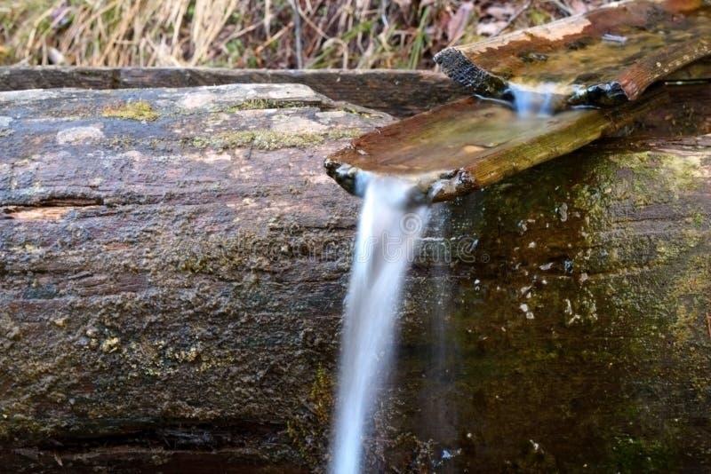Houten kanaal bij de lente stock afbeelding