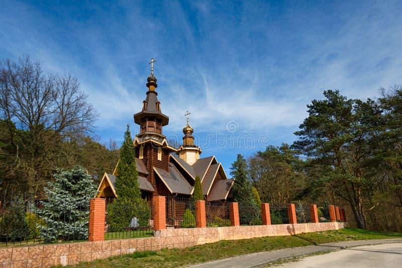 Houten kerk royalty-vrije stock afbeelding