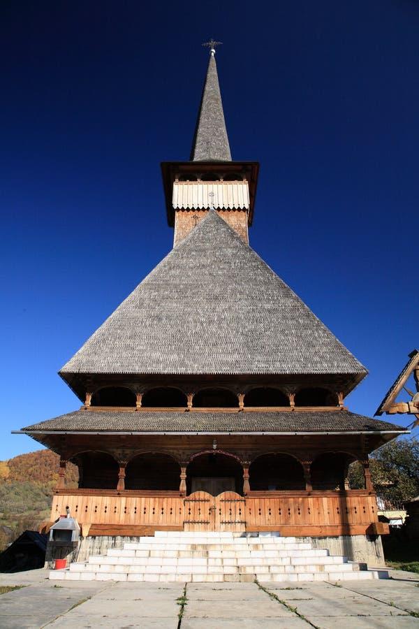 Houten kerk stock afbeelding