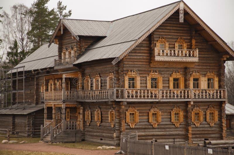 Houten kerk in Rusland royalty-vrije stock foto