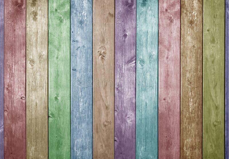Houten Kleurenachtergrond stock afbeelding