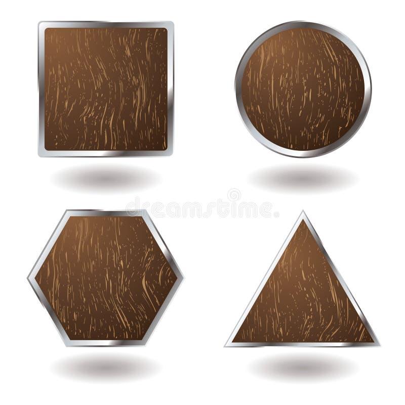 Houten knoopvariatie stock illustratie