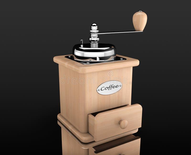 Houten Koffiemolen royalty-vrije illustratie