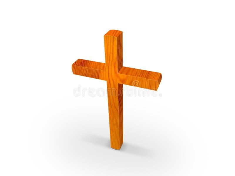 Houten kruis royalty-vrije illustratie