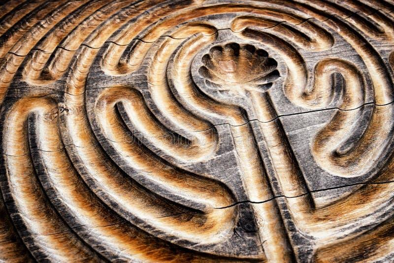 Houten labyrint royalty-vrije stock afbeelding