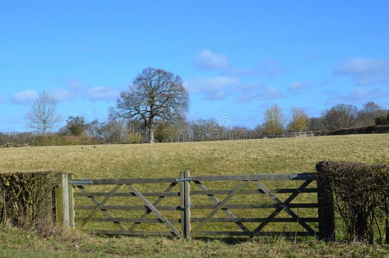 Houten landbouwbedrijfpoorten royalty-vrije stock afbeelding