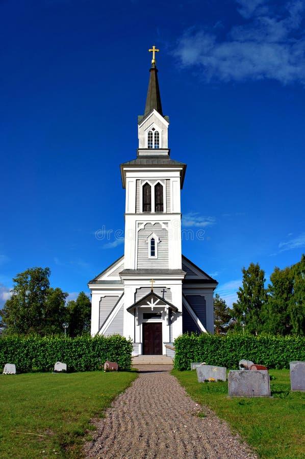 Houten landkerk stock afbeelding