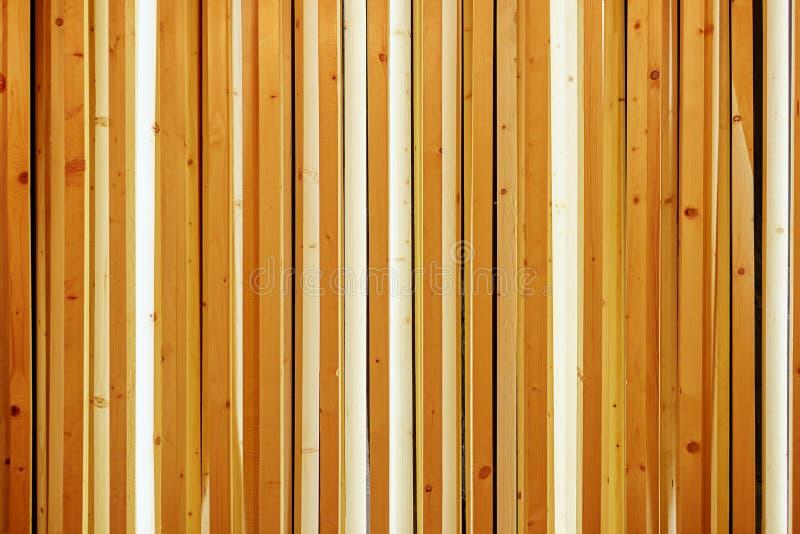 Houten Latjes, van het de muurpatroon van houtlatten de oppervlaktetextuur Close-up van binnenlands materiaal voor de achtergrond royalty-vrije stock foto