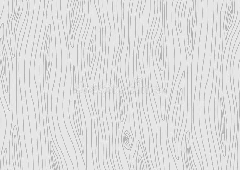 Houten lichtgrijze textuur Vector houten achtergrond vector illustratie