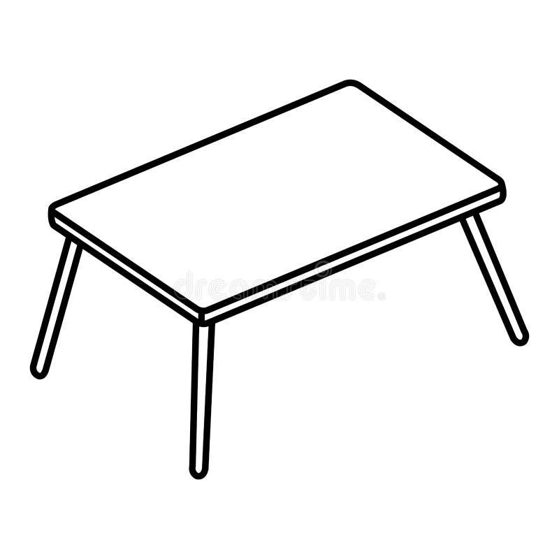Houten lijst geïsoleerd pictogram stock illustratie