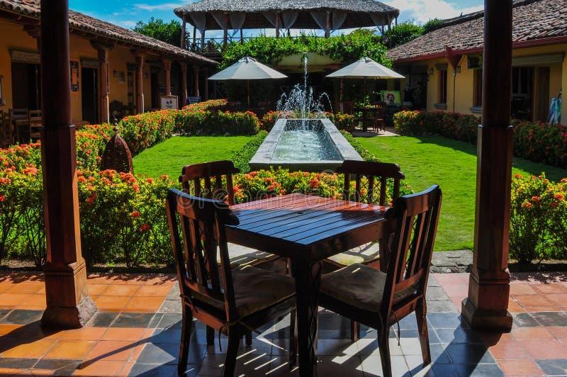 Houten lijst in Jardin, Granada, Nicaragua royalty-vrije stock afbeelding