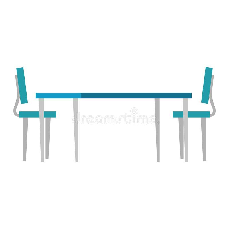 Houten lijst met stoelen royalty-vrije illustratie