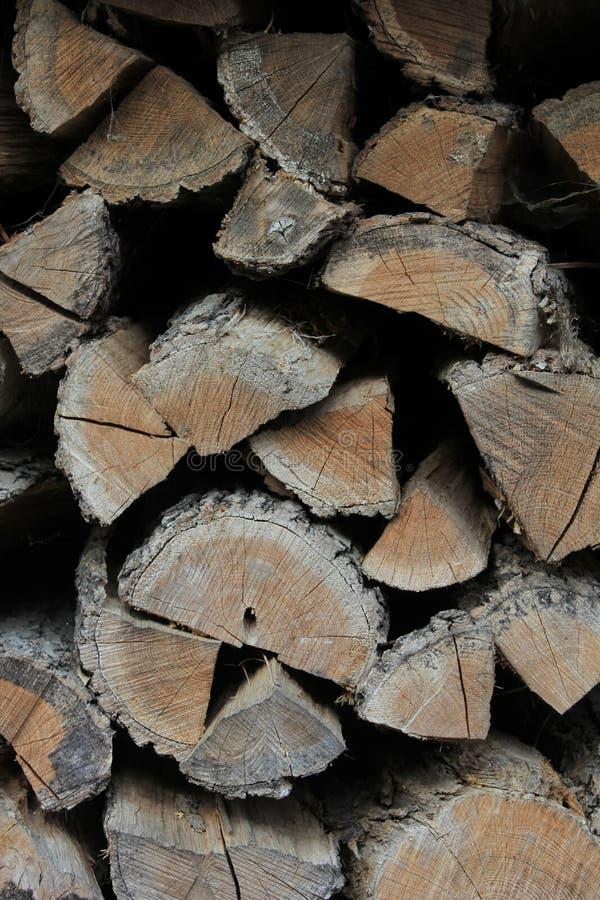 Houten logboekentextuur stock afbeeldingen