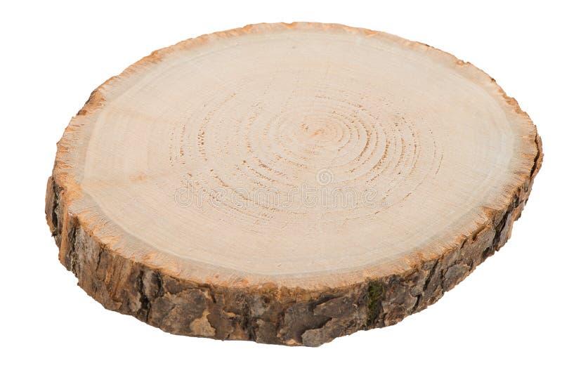 Houten logboekplak stock afbeelding