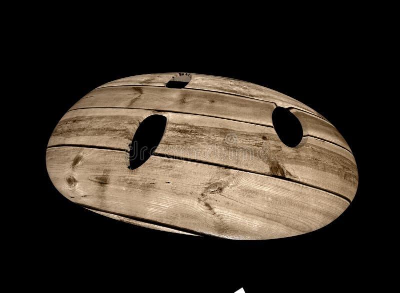 Houten masker 3d illustratie vector illustratie