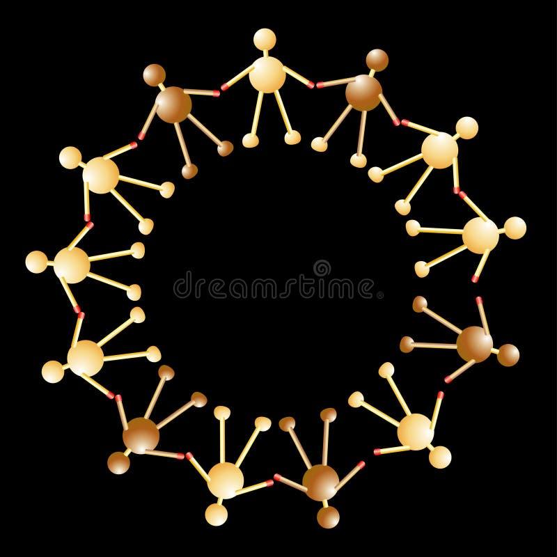 Houten mensen in cirkel vector illustratie